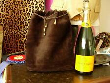 83bc59c92d65ee RARE Vintage GUCCI Suede Travel Wine Tote Shopper Purse Bag Handbag Barware  GG