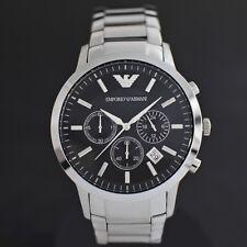 EMPORIO ARMANI reloj de Hombres Classic AR2434 Cronógrafo color: Plata Negro
