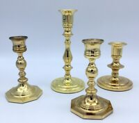 Baldwin Brass Candlesticks Candle Holders Lot Of 4 Vintage Solid Brass Classic