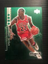 1998 UD UPPER DECK BLACK DIAMOND QUADRUPLE MICHAEL JORDAN BULLS GREEN /150 PMG $