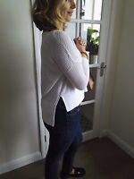Karen Millen designer mesh detail white jumper top spring weight