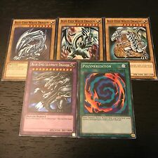 YUGIOH: BLUE-EYES ULTIMATE DRAGON + POLYMERIZATION + WHITE - 5-CARD SET - LDK2