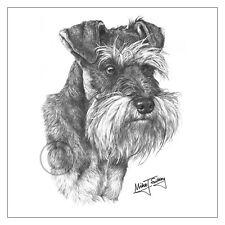 Mike Sibley Schnauzer dog breed greeting card happy birthday thank you mum dad