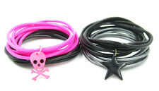 New High Quality 24 Piece Jelly Bracelet Sets With Skull & Star Charms #B1013-14