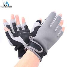 Maxcatch Fly Fishing Glove Half Finger/Fingerless Slits Outdoor Neoprene Size L