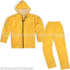 Taglia XL Delta Plus EN850 GIALLO Pioggia Tuta Impermeabile Giacca e Pantaloni PU Nuovo