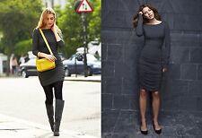 Baukjen Ruched Jersey Dress Dark Grey Melange US SZ 4/UK SZ 8