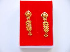 22k gold plated Stud Earrings Indian Asian fashion costume  jewellery e8