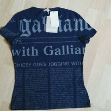 Galliano Damen T-Shirt gr.L dunkelblau neu mit Etikett