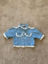 Vintage Short Sleeve Cut Out Lace Jacket, Size L
