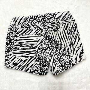PSNY zebra print shorts juniors sz 7 adj. waist