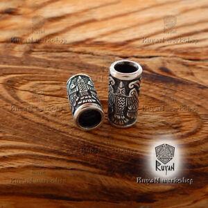 Viking Ravens Beads for Beard Hair huginn and muninn Odin Ravens Viking jewelry