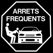 Stickers Carrosserie Arrets Frequents Colorie Blanc