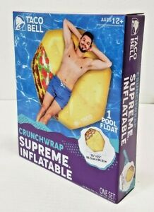"""2021 LIMITED EDITION TACO BELL CRUNCHWRAP SUPREME INFLATABLE POOL FLOAT 35""""x35"""""""