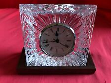 Waterford Crystal Quartz Desk / Mantel/ Shelf Clock W/Stand – See Notes