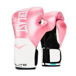 Everlast Elite Pro Style Leather Training Boxing Gloves Size 8 Ounces, Pink