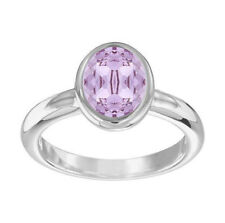 Swarovski Violet Crystal LASER RING Large/58/8 Rhodium #5120600 New