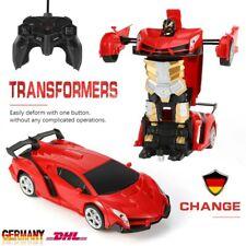 Kinder Spielzeug Transformer Auto Rennauto Roboter mit Fernbedienung Motor Wagen