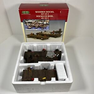 Lemax Village Collection Wooden Docks Set Of Two