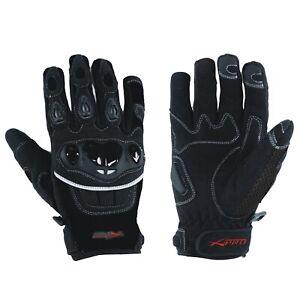 Gloves Textile motorcycle knuckles Protection Summer Racing Biker Cross Black