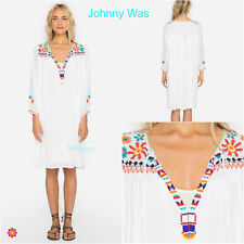NWT Johnny Was Aster Beaded Embellished Embroidered Artsy Boho Tunic Dress OS