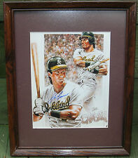 JOSE CANSECO FRAMED AUTOGRAPHED  12 X 15 COA PETRONELLA LIMITED OAKLAND ATHLETIC