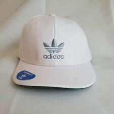 Adidas Men's Originals Adjustable Hat / Cap NEW Trefoil White & Gray
