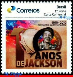 54 BRAZIL 2019 CENT. JACKSON DO PANDEIRO, TAMBOURINE, MUSICIAN, MUSIC PB-116 MNH