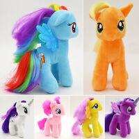 My Little Pony Plush Teddy Doll Applejack Rainbow Dash Stuffed Soft Kids Fun Toy