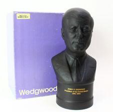 "Wedgwood 8 1/4"" Basalt Bust of John F. Kennedy Limited Edition #841 of 2000"