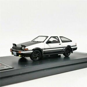 Time Model 1:64 Toyota Carola Levin AE86 INITIAL D Diecast Model Car Black Hood