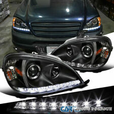 02-05 Benz W163 ML320 ML350 ML55 AMG Black SMD LED Projector Headlights Pair