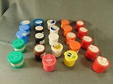 """24 empty film strip containers 1 1/2"""" multi colored small crafts storage"""