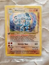 rare 1st gen holo machamp pokemon card in wrapping never touched new