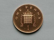 UK (Great Britain) 1987 1 PENNY (1p) Elizabeth II Coin From Proof Set - BU UNC
