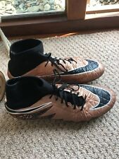 GENUINE MEN'S Nike Hypervenom Football Boots Size 9.5 UK  SG/ BRONZE