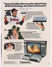 Original 1982 Panasonic VHS System Vintage Print Ad w/Reggie Jackson Angels