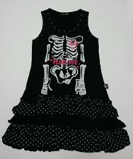 Peace now dress cute goth punk rock visual kei frill ribcage polka dot