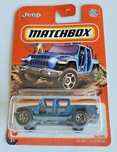 Matchbox '20 Jeep Gladiator - Blue #36 36/100 2021 Basic Car