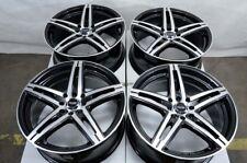 "14"" Wheels VW Jetta Mr2 Fortwo Fit Versa Sentra Altima Civic Black 4 Lugs Rims"