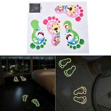 1Set Footprint Luminous Sticker Children Room Home Feet Floor Cartoon Sticker GQ