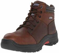 Skechers for Work Men's Burgin Work Boot,Dark Brown,12 M US