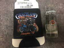Harley-Davidson Tall Shot Glass & Can Flat Wrap Cooler  LOT