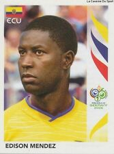 N°084 EDISON MENDEZ # ECUADOR STICKER PANINI WORLD CUP GERMANY 2006