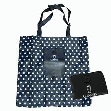 Guinness Black/White Spot Fold Up Shopper Bag
