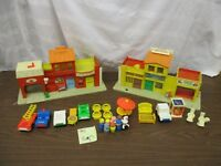 Fisher Price Little People Town SET Play Family Village 997 BO Fire Mail truck