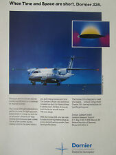 2/1991 PUB DORNIER 328 DEUTSCHE AEROSPACE AVION HOTESSE AIR ORIGINAL AD
