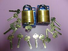 New listing 2 New Abus Ic Best Cyl. With H Core And 1 Core And 15 Keys Padlock Locksmith