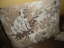 Vintage Lady Pepperell Safari Jungle Brown Zebra Twin Flat Sheet 66 X 104