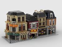 Lego Instructions Modular Street Building (4 MOCs)